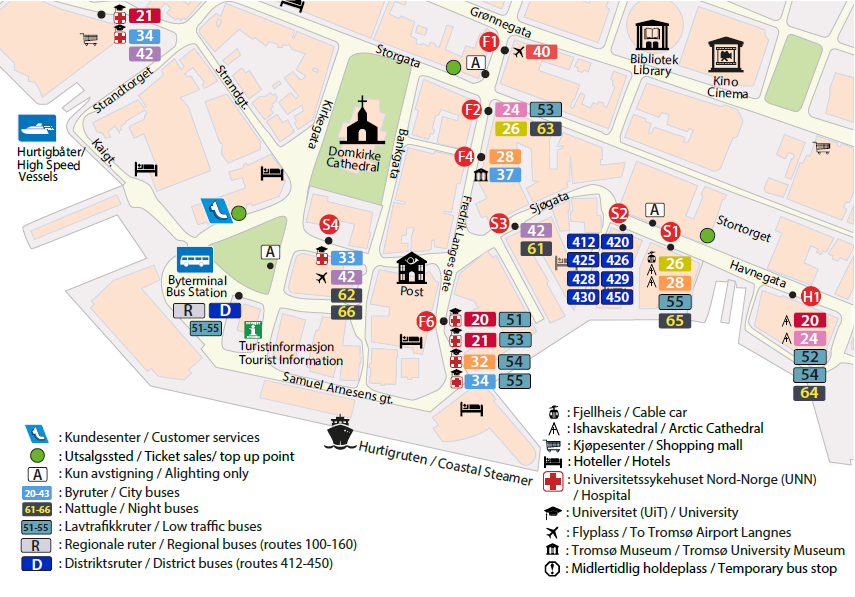 tromsø bussruter kart Transport tromsø bussruter kart